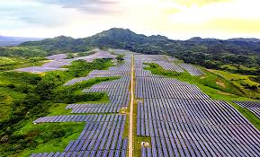 A photography of solar panels in the Philippines.