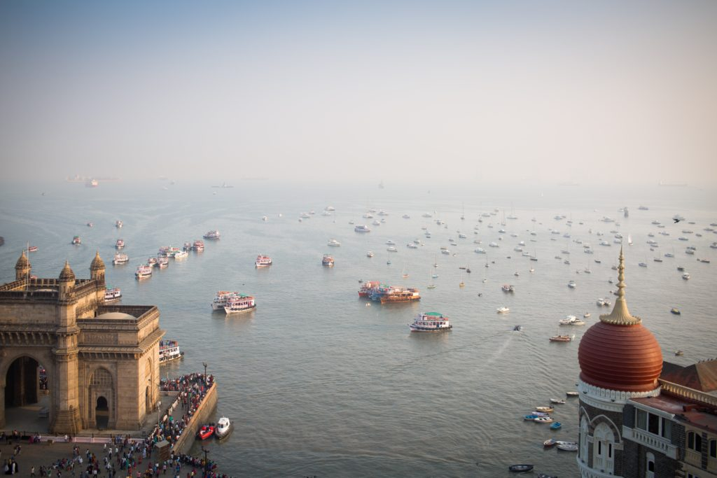 A picture of boats in Mumbai